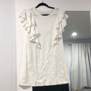 Fun white ruffled sleeve sun dress